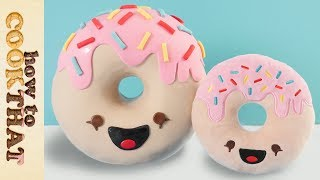 Kawaii Donut Cake 3D How To Cook That Ann Reardon Thumbnail