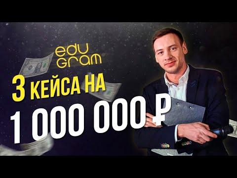 3 кейса на 1 млн. руб в месяц на образовательной тематике