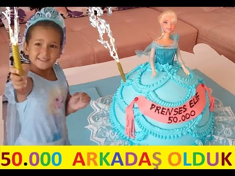 Hepimizin Kanalı prenses elif in artık  50.000 abonesi 50.000 arkadaşı 50.000 dostu var