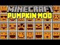 Minecraft CARVABLE PUMPKIN MOD! | CARVE UNLIMITED HALLOWEEN PUMPKINS! | Modded Mini-Game