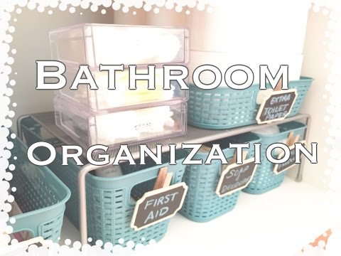 Bathroom Organization|Dollar Tree Organization|VD#1