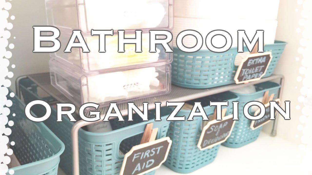 Bathroom OrganizationDollar Tree OrganizationVD1  YouTube