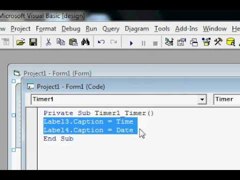 how to create database in vb6