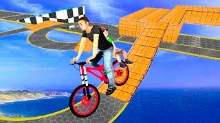 Bike Racing Games - Super Dad BMX Bicycle Stunts - Gameplay Android free games