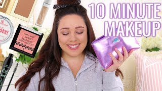 MY ACTUAL 10 MINUTE MAKEUP 2018 | MINIMAL MAKEUP BAG