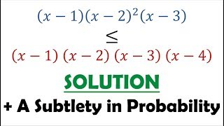 Solution 61: Subtle Differences in Conditional Probability (Comparing Polynomials)