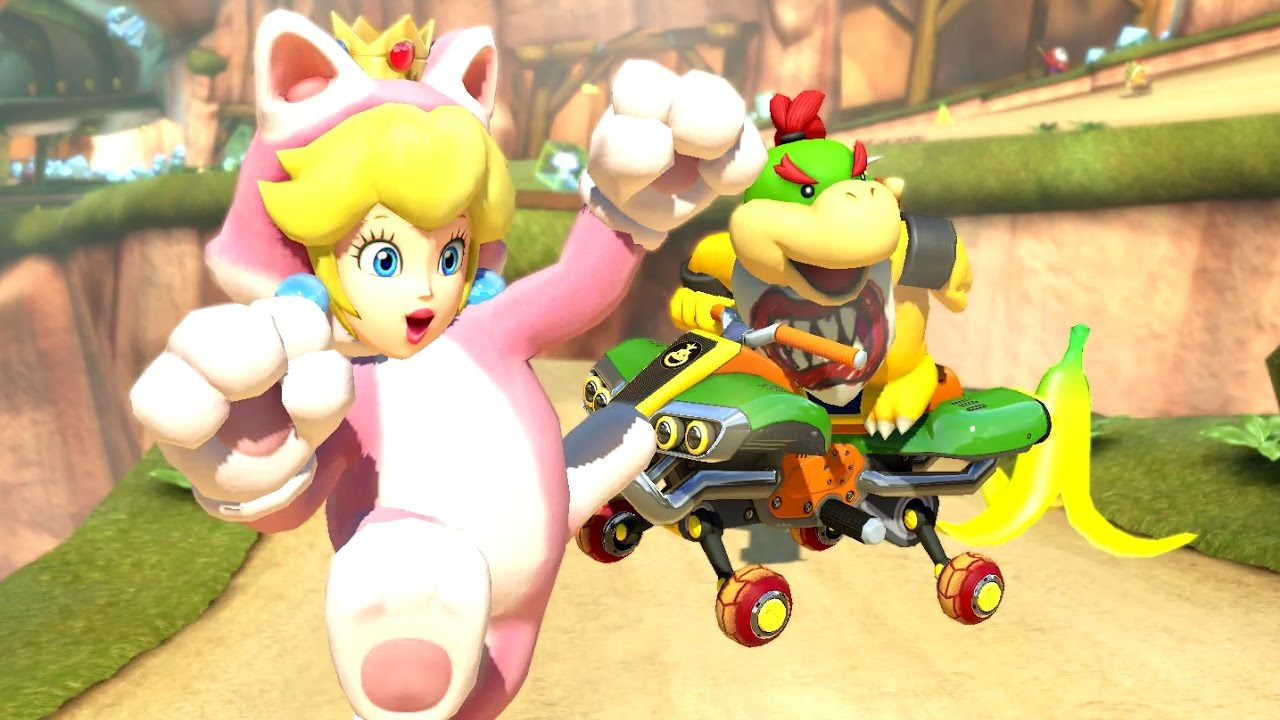 Mario Kart 8 Deluxe 200cc Flower Cup Bowser Jr Gameplay New Character