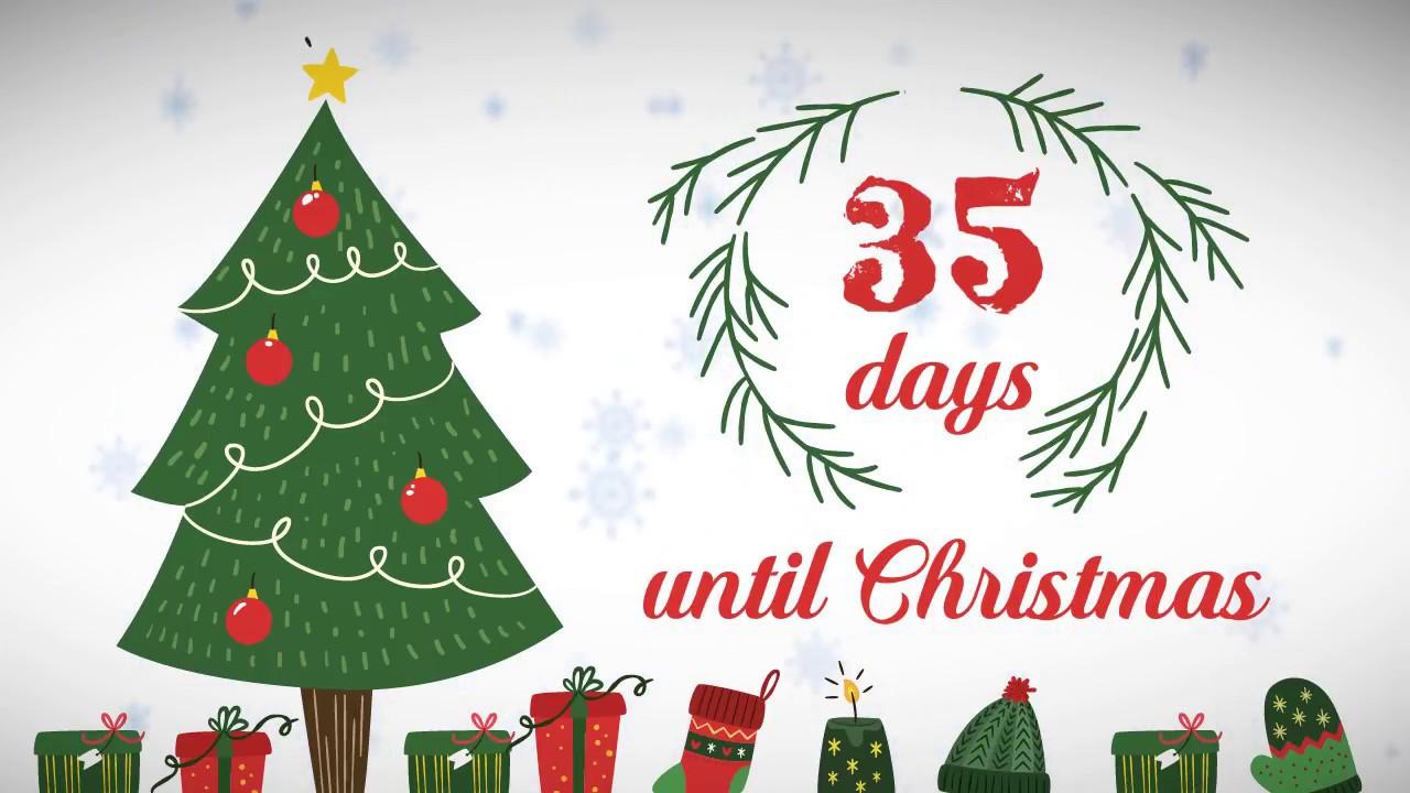 xmas counter days until christmas 35