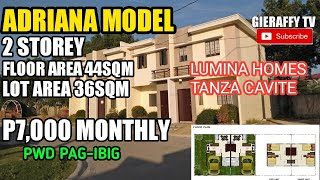 RENT-TO-OWN Murang Pabahay ADRIANA-TH Model -TANZA CAVITE