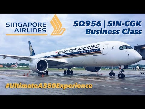 Ultimate A350 Experience Singapore Airlines Business Class SQ956 SIN to CGK + CGK Skytrain Review