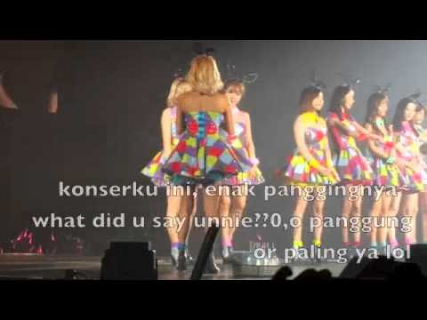 SNSD funny speaks indonesian (GIRLS GENERATION PHANTASIA CONCERT JAKARTA INDONESIA)