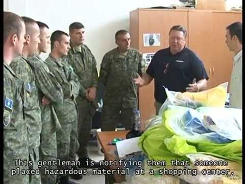 DTRA: HazMat Tech/Sampling Training (Kosovo News Coverage)