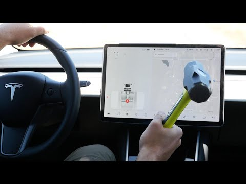 What Happens If You Smash Tesla Model 3 Screen While Driving?