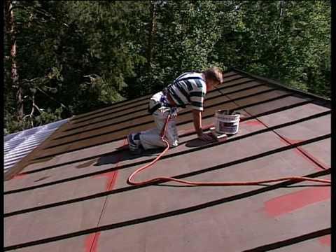 Тikkurila советы по окраске - Окраска металлических крыш