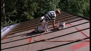 видео Оцинкованное железо для крыши: оцинковка и покраска кровли, как покрыть и чем покрасить