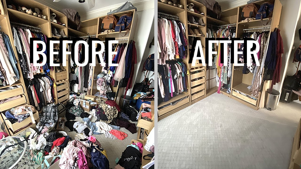Embarrassing! Cleaning the world's messiest closet! Organize With Me
