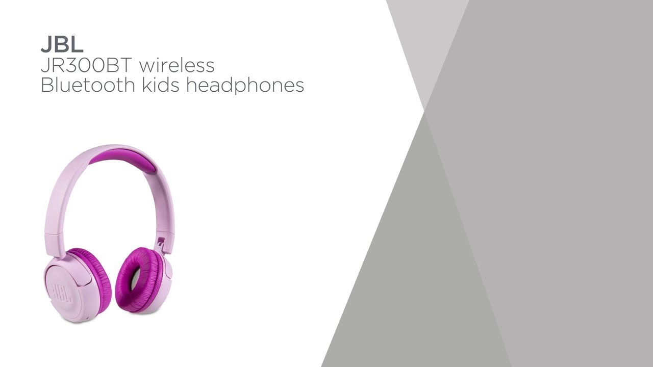 Jbl Jr300bt Wireless Bluetooth Kids Headphones Pink Product Overview Currys Pc World Youtube