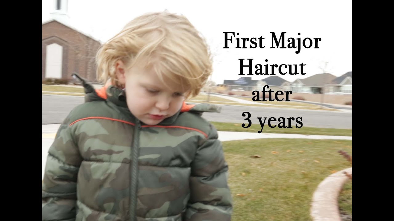 First Haircut My Son Gets His First Haircut At 3 Years Old Youtube