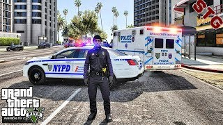 GTA 5 MODS LSPDFR 0.4.4 #35 - NYPD CITY PATROL!!! (GTA 5 REAL LIFE PC MOD)