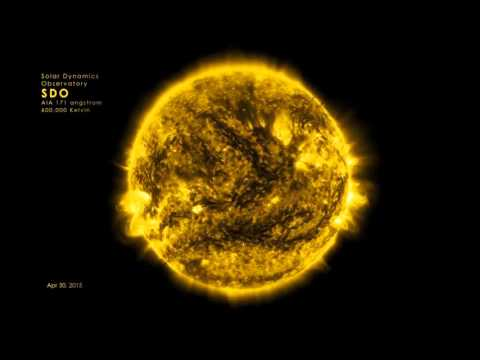 2015 Solar Activity in an Entire Year (Sun Time Lapsed)