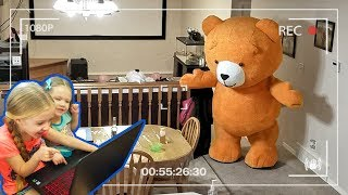Giant Teddy Bear Caught Moving on Camera!!! We Caught Teddy on Tape! OMG!!! Video
