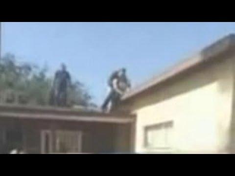 California Grandpa Pushes Suspect Off Roof