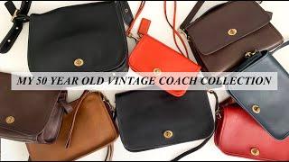 VINTAGE COACH BAG COLLECTION - 50 YEAR OLD HANDBAGS