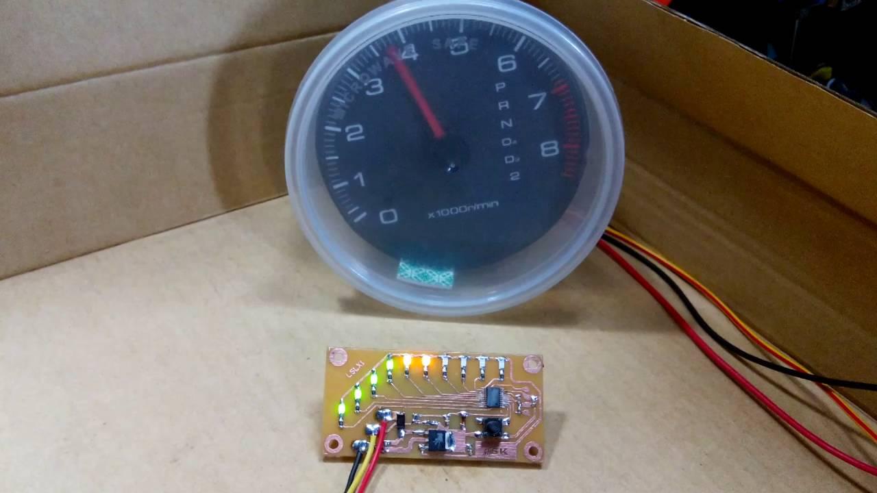 jsk led shift light tachometer [ 1280 x 720 Pixel ]