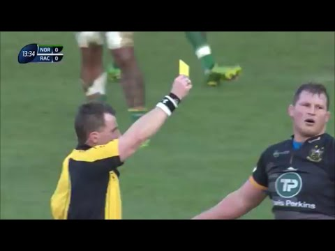 Dylan Hartley 'extremely sloppy indiscipline' sees him sin binned vs Racing Métro 2015