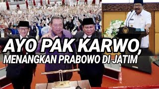 SBY ALL OUT, SUKARWO DIMINTA MENANGKAN PRABOWO DI JATIM;MANTAN GUBERNUR JATIM;PILPRES 2019;DEBAT CAP