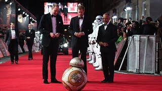Prince William and Prince Harry meet BB-8 at Star Wars: The Last Jedi premiere thumbnail