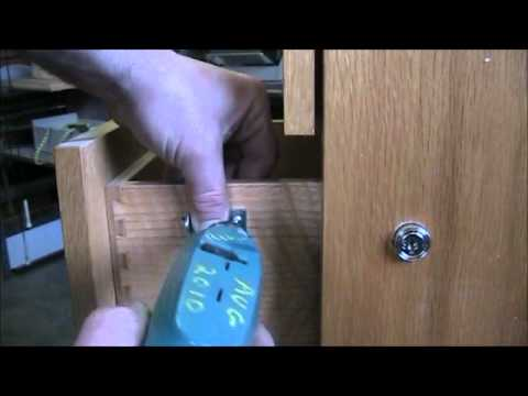 Install Simple Plunger Lock On Wood Drawer Of Filing