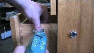 Install Simple Plunger Lock On Wood Drawer Of Filing Cabinet