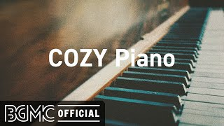 COZY Piano: October Jazz Playlist - Relaxing Autumn Jazz Cafe Piano Music for Warm Mood