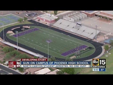 North Canyon High School student had gun on school