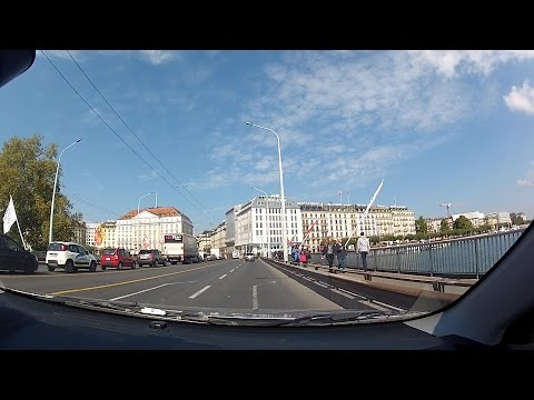 Geneva (Genève, Genf, Ginevra) Downtown, Canton of Geneva, Switzerland – onboard camera