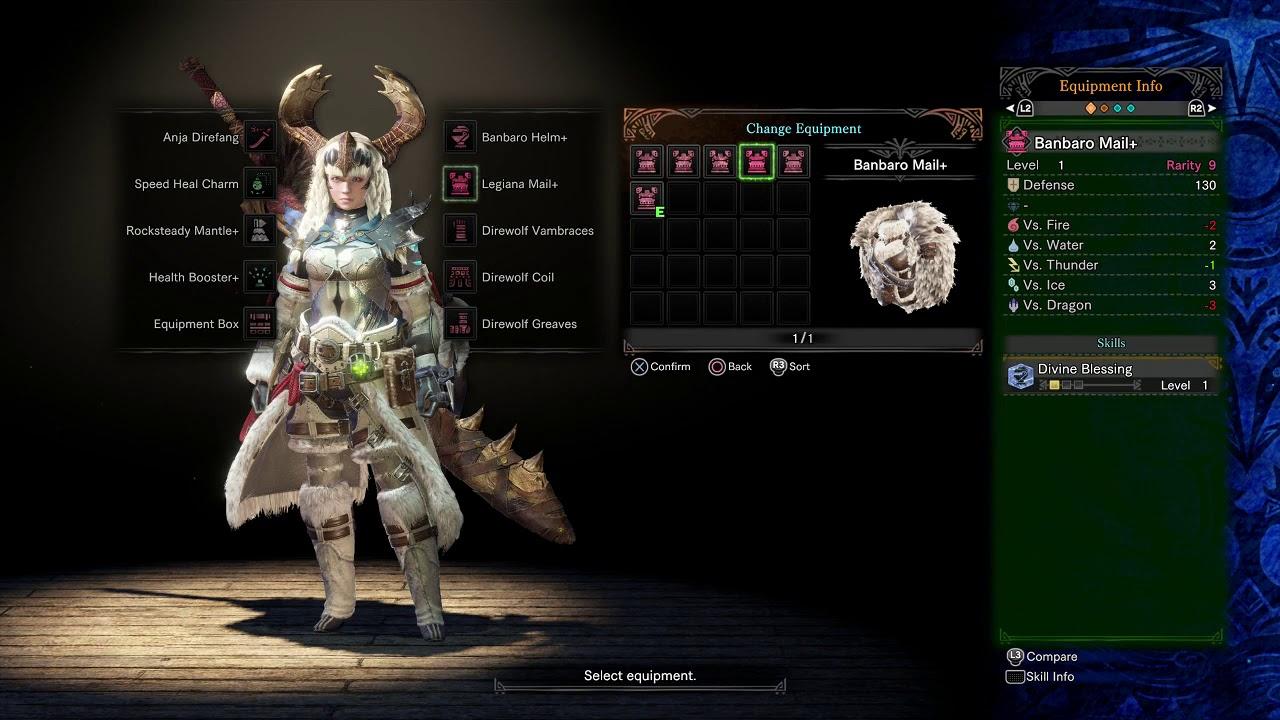 Monster Hunter World Iceborne Beta Armor List Youtube