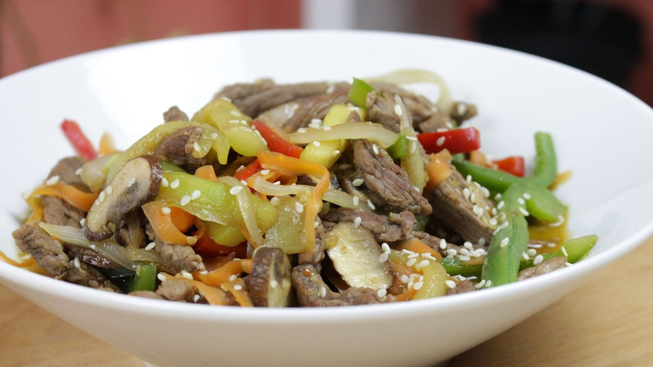 Wok de Ternera con Verduras