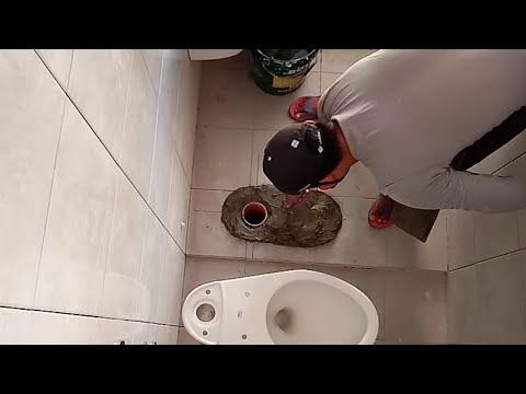 how to install toilet bowl or water closet (paano magkabit ng inodoro?)