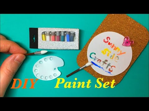 DIY Miniature Acrylic Paint Set (REALLY WORKS)