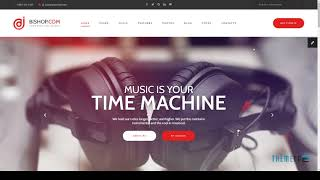 Dj Bishop - Dj Personal Page HTML Template with Visual Builder