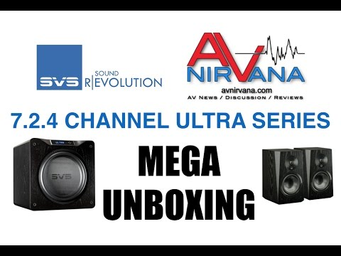 Unboxing the Ultimate SVS Ultra 7.2.4 Atmos Speaker System (including SB16-Ultra)