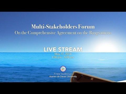Comprehensive Agreement on the Bangsamoro Multi-Stakeholders Forum, ADDU