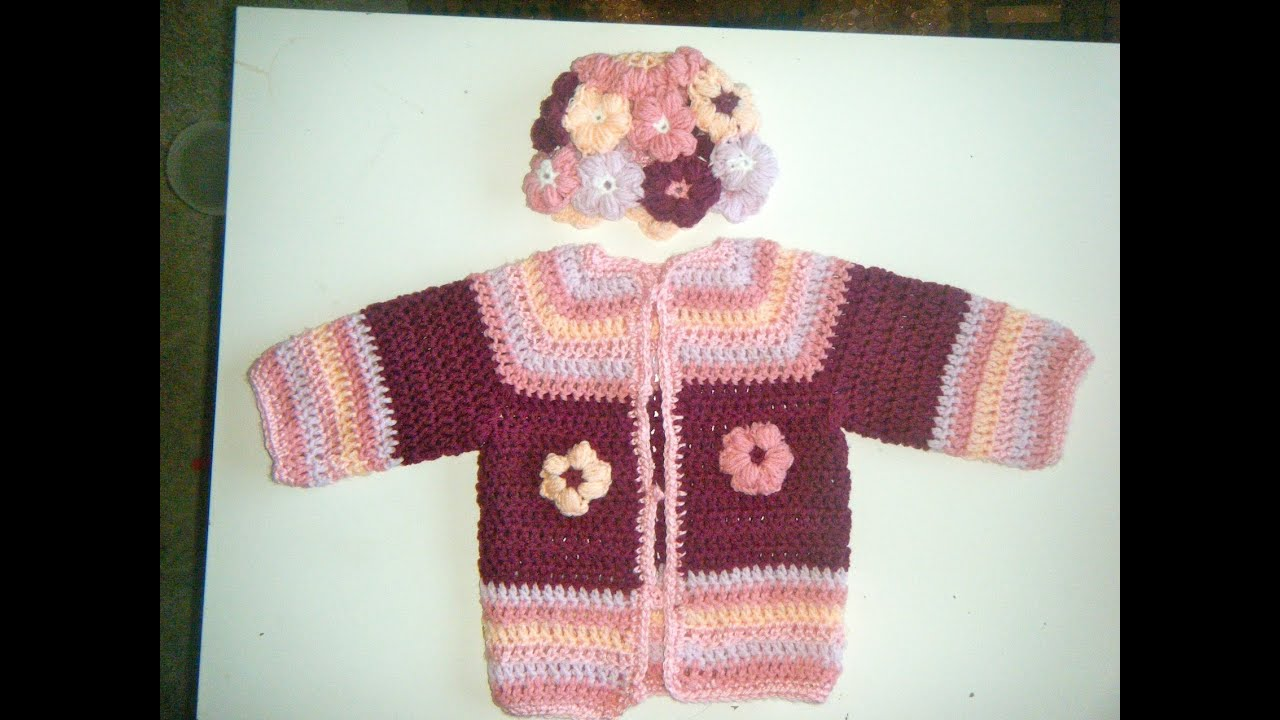 Crochet Sweater Tutorial 1-2 year old - YouTube