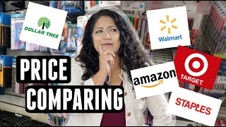 Are Name Brands CHEAPER at DOLLAR TREE? Price Comparing Name Brand BACK TO SCHOOL SUPPLIES