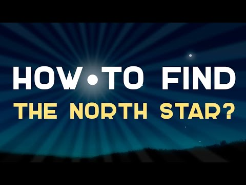 How to find the North Star? Ursa Major and Ursa Minor. Infographics.
