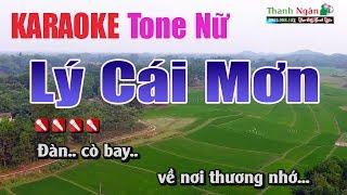 Lý Cái Mơn Karaoke ||Tone Nữ - Nhạc Sống Thanh Ngân
