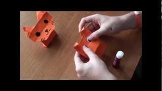 http://nashydetky.com Оригами собака и кошка (видеоурок).wmv