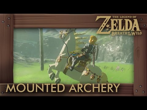 Zelda Breath of the Wild - How to Break All Targets in Mounted Archery