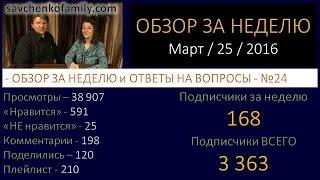 Ответы на вопросы №24 (25 марта 2016) / Обзор за неделю/Семья Савченко